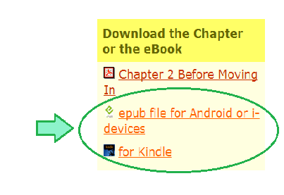 image of yellow info box in right column with links to ebook downloads